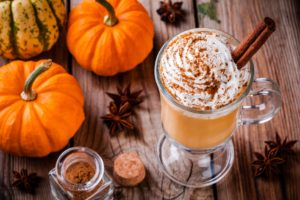 Pumpkin spice hot drink