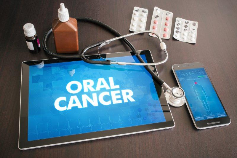 Oral cancer screening at dentist